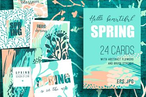 Hello spring! 24 creative art cards.