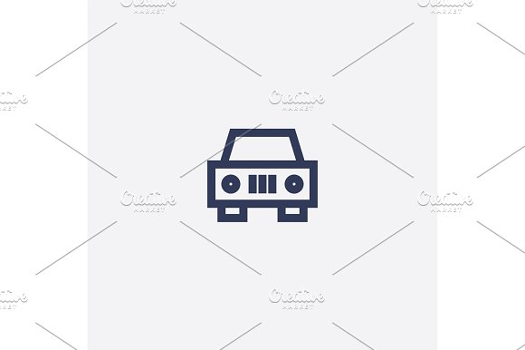 Abstract vector car and taxi icon