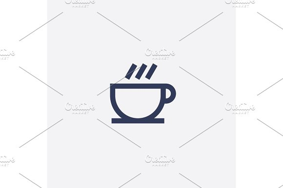 Abstract vector coffee or tea cup icon