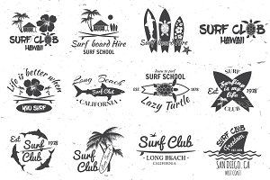 Surf club and surf school design.