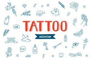 Tattoo doodles collection