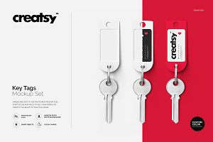 Key Tags Mockup Set