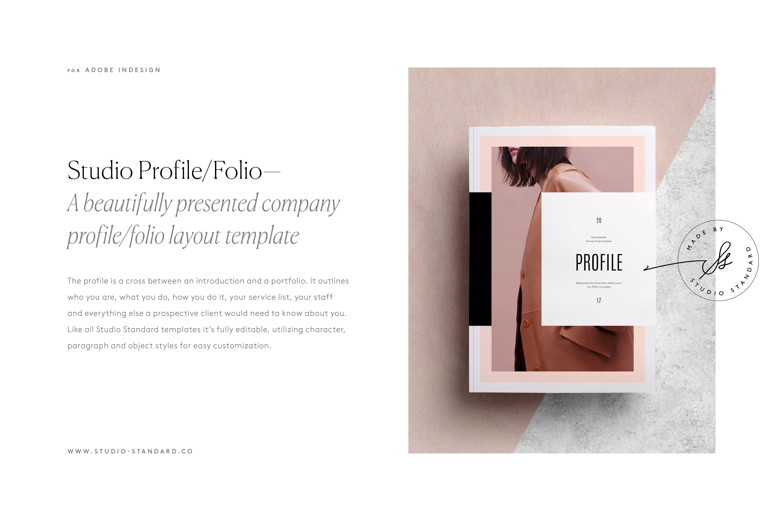 Studio Profile ~ Brochure Templates ~ Creative Market
