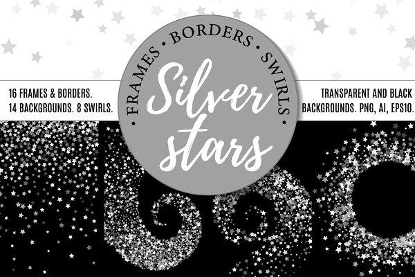 Silver stars bundle