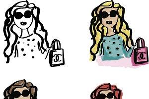 Sassy Girls Shopping