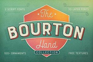 Bourton Hand Font + BONUS Textures