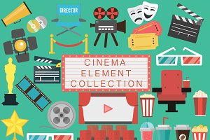 Cinema movie elements collection