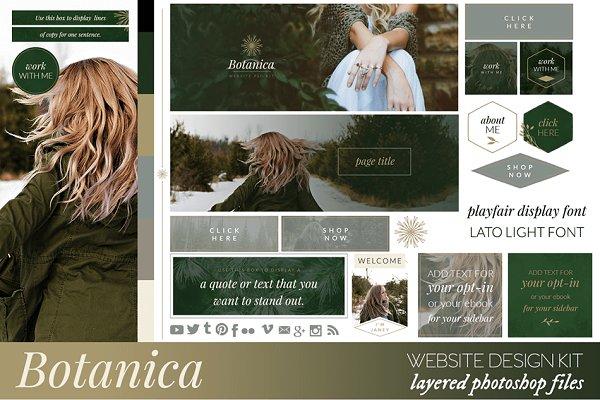 Botanica Website/Blog Kit