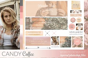 Candy Coffee Website/Blog Kit