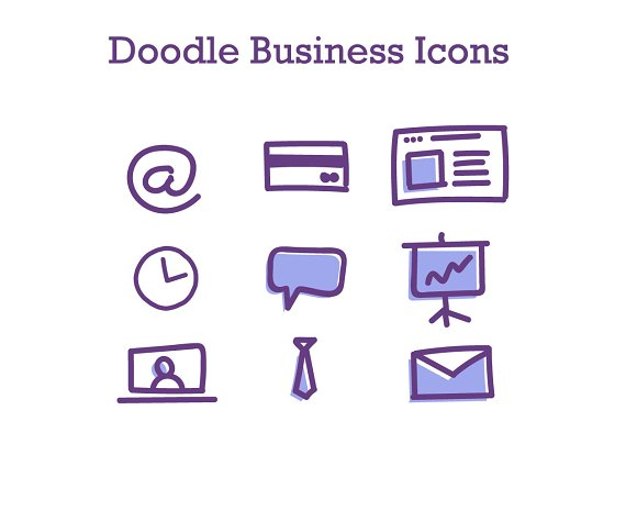 Doodle Business Icons 2
