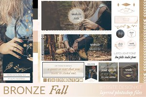 Bronze Fall Website/Blog Kit