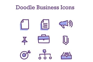Doodle Business Icons 3