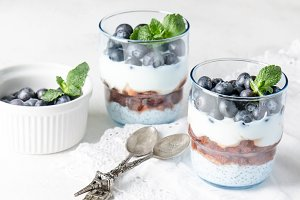 Greek yoghurt with chia and berries