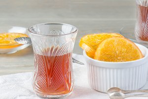 tea and candied orange