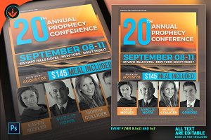 Annual Prophecy Conference Flyer