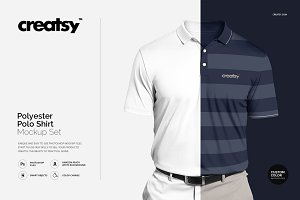 Polyester Polo Shirt Mockup Set