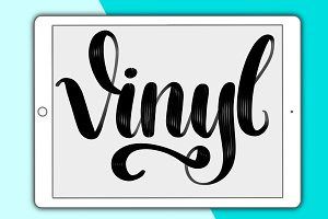 Vinyl lettering brush for Procreate