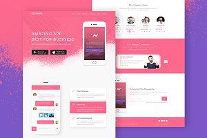Lifetrakr App Landing Page Template