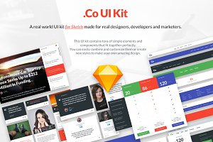 .Co UI KIT. Made in Sketch