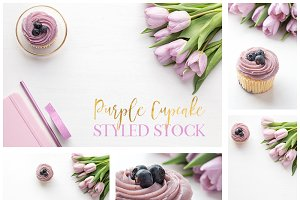 Purple Cupcake &Tulips Styled Bundle