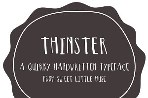 Thinster Typeface - handwritten font