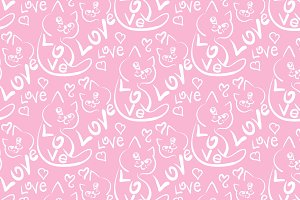 Love cat pattern