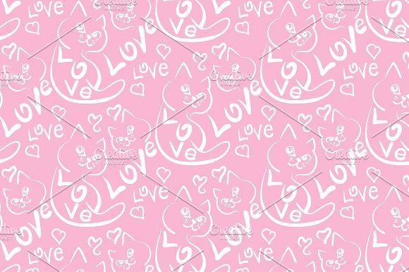 Love Cat Pattern