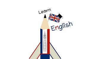 Learn English Education design