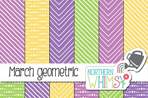 Hand Drawn Spring Geometric Patterns