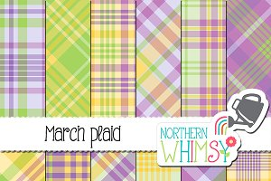 Spring Plaid Patterns - March Plaid