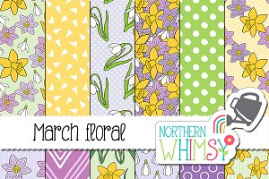 Spring Flower Patterns: March Floral