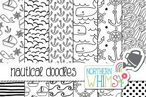 Black and White Nautical Patterns