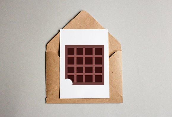 Chocolate Bar Art Illustration