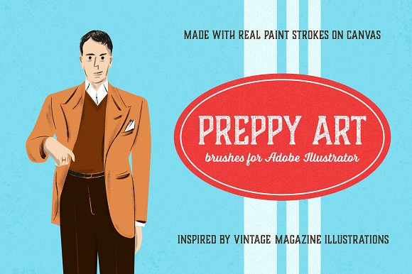 Preppy Art Brushes For Illustrator