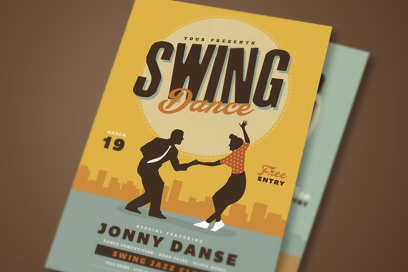 Retro Swing Dance Party Flyer