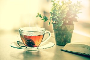 Relax with warm tea