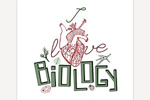 Biology Hand Drawn Lettering