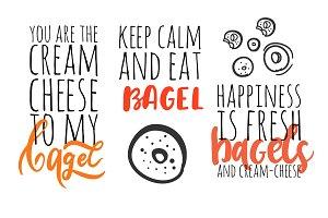 Bagel lettering set