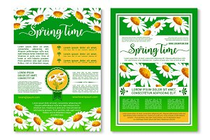 Springtime holidays celebration poster template