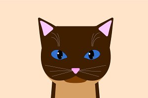 Vector Siamese Cat
