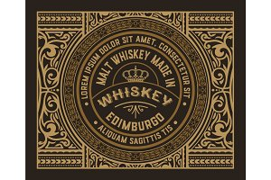 Vintage design for labels. Suitable for whiskey or other comerci