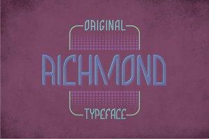 Richmond Label Typeface