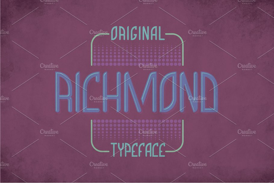 Richmond Label Typeface