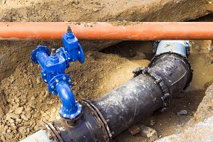 water and sewer pipes
