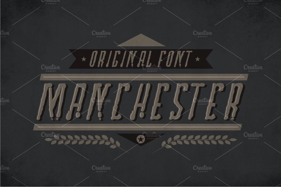 Best Manchester Label Typeface Vector