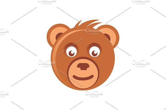 Cute Brown Bear Head