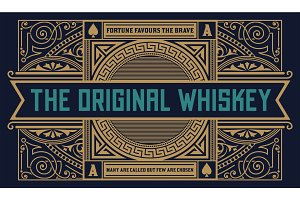 Whiskey label vintage logo western