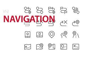40 Navigation UI icons