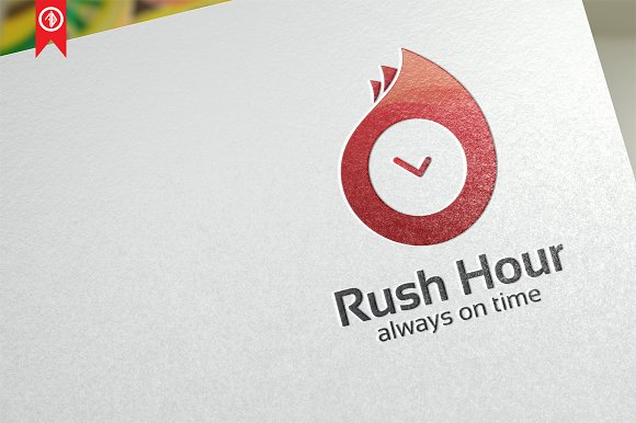 Rush Hour Symbols Logo Template