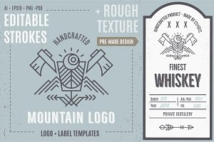 Mountain Logo. Distilling Industry